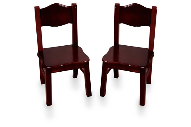 Home Accents Classic Espresso Chairs (Set of 2), , large