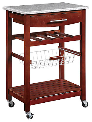 Kitchen Island Granite Top Cart, , rollover