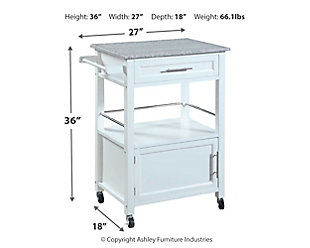 Mitchell Kitchen Cart with Granite Top, , large