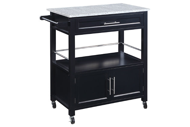Cameron Kitchen Cart with Granite Top, , large
