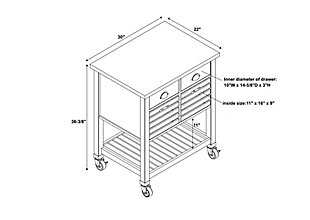 Robbin Gray Wood Kitchen Cart, , large