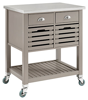 Robbin Gray Wood Kitchen Cart, , rollover