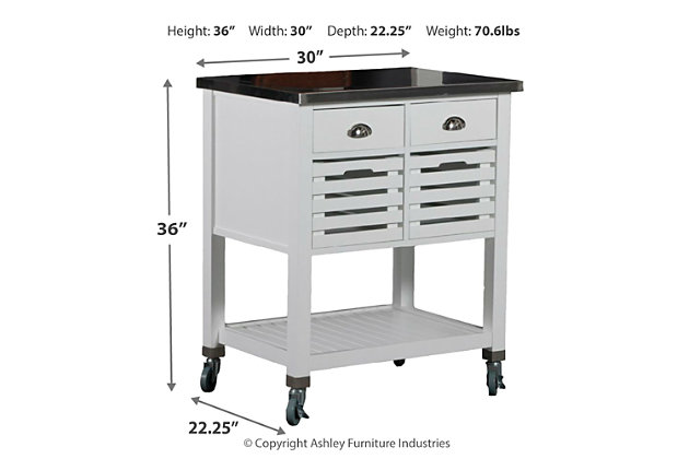 Robbin Kitchen Cart, , large
