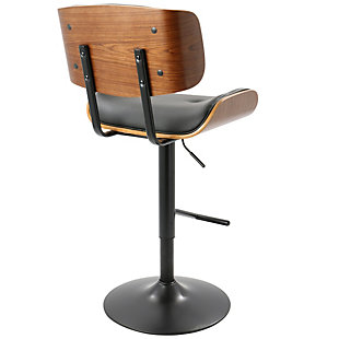 Lombardi Bar Stool, Black, large