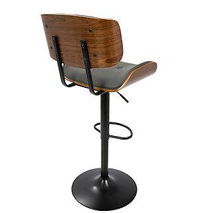 Lombardi Adjustable Height Bar Stool with Swivel, Gray, large