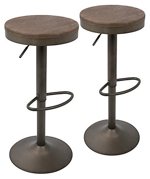 LumiSource Dakota Bar Stool (Set of 2), , large