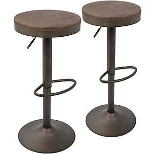 Dakota Bar Stool (Set of 2), Antique Brown, rollover