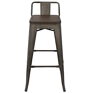 Oregon Low Back Bar Height Bar Stool (Set of 2), Espresso, rollover
