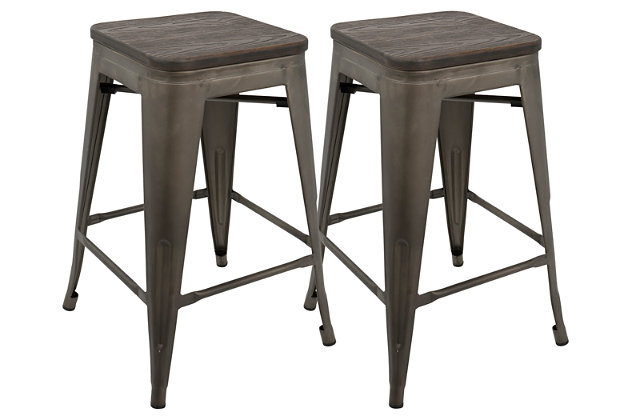 Oregon Counter Stool (Set of 2), Espresso, large