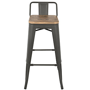 LumiSource Oregon Low Back Bar Stool (Set of 2), , rollover