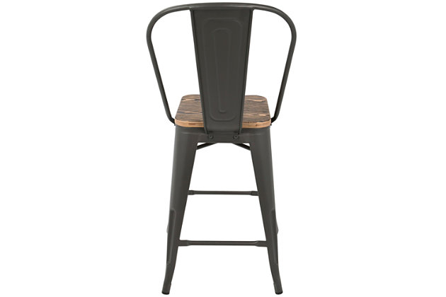 Oregon High Back Counter Stool (Set of 2), , large