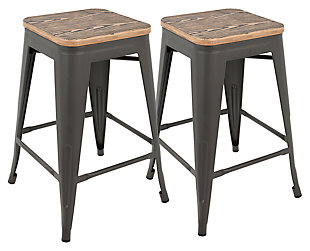 LumiSource Oregon Counter Stool (Set of 2), , large