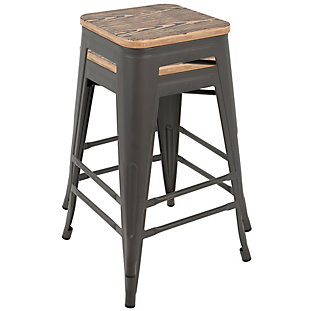 LumiSource Oregon Counter Stool (Set of 2), , rollover