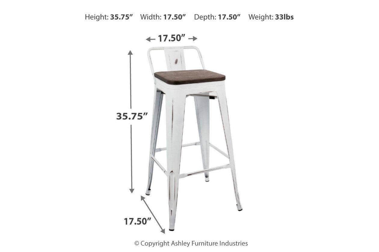 Awe Inspiring Oregon Low Back Bar Height Bar Stool Set Of 2 Ashley Inzonedesignstudio Interior Chair Design Inzonedesignstudiocom