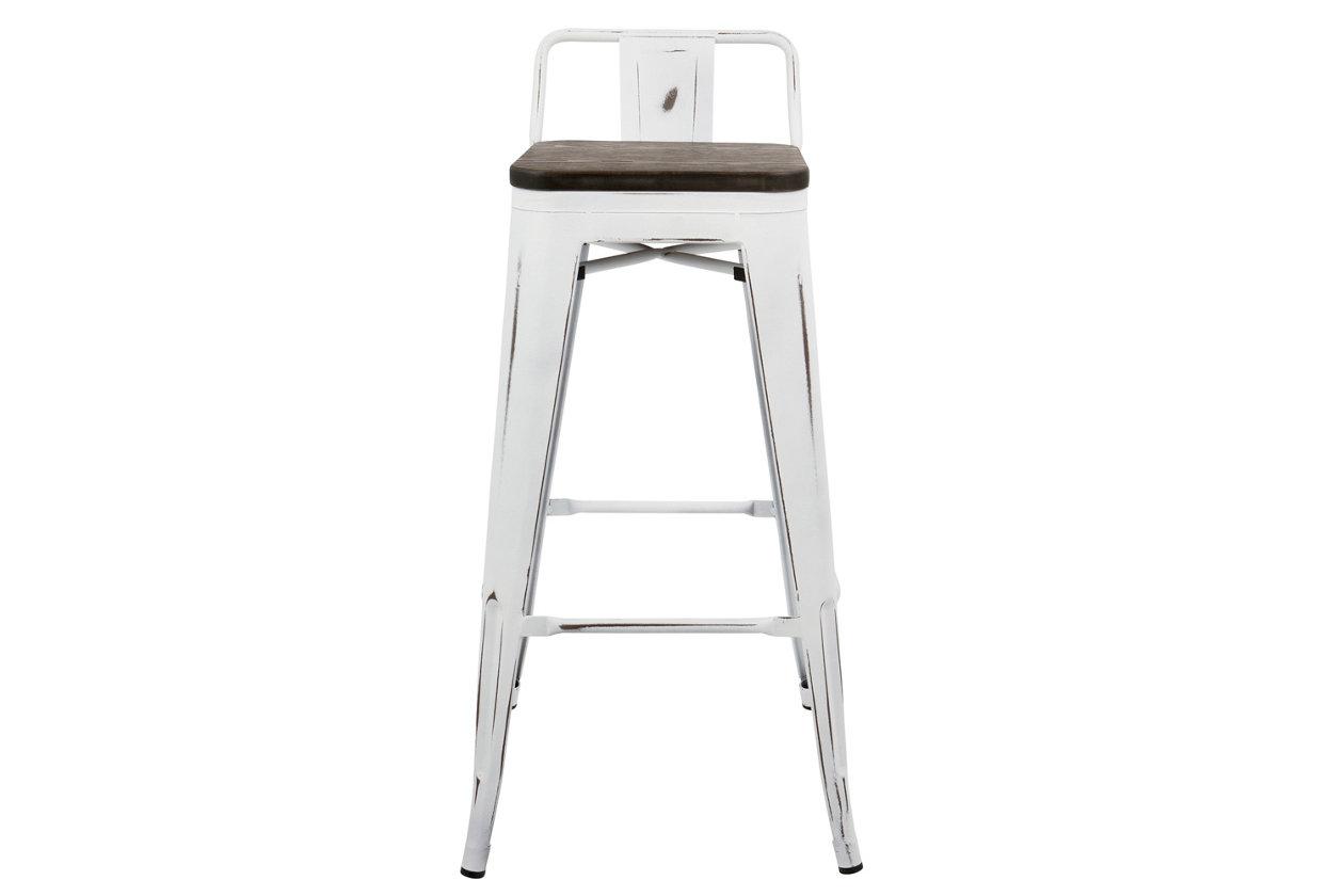 Excellent Oregon Low Back Bar Height Bar Stool Set Of 2 Ashley Inzonedesignstudio Interior Chair Design Inzonedesignstudiocom