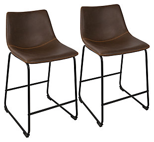 LumiSource Duke Counter Stool (Set of 2), , large