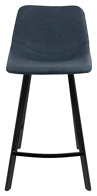 Outlaw Counter Stool (Set of 2), Blue, rollover