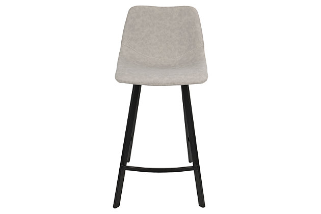 Outlaw Counter Stool (Set Of 2), Gray, Large ...