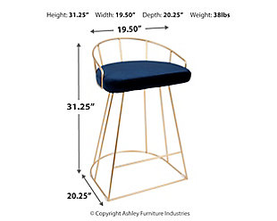 Canary Counter Stool (Set of 2), Blue, large