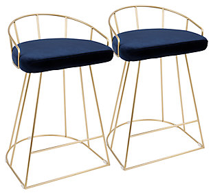 Canary Counter Stool (Set of 2), Blue, rollover