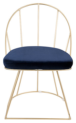 Canary Dining Chair (Set of 2), Blue, rollover