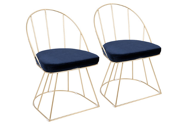 Canary Dining Chair (Set of 2), Blue, large