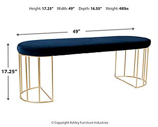 Canary Bench, Blue, large