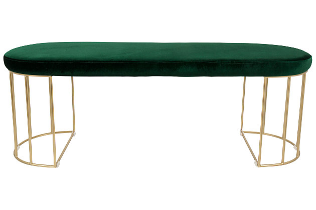 Canary Bench, Green, large