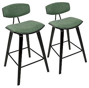 Damato Counter Stool (Set of 2), Green, large