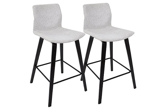 Cabo Counter Stool (Set of 2), Gray, large