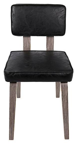 Nunzio Chair (Set of 2), Black, rollover