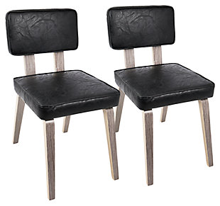 Nunzio Chair (Set of 2), Black, large
