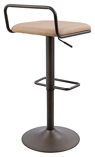 Beta Adjustable Bar Stool with Swivel (Set of 2), , large