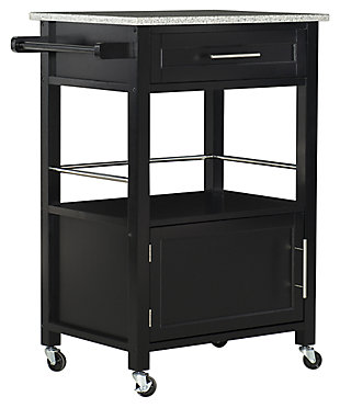 Rolling Mitchell Kitchen Cart, , large