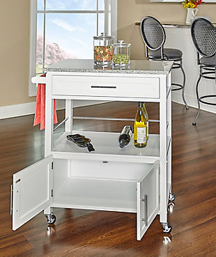 Rolling Cameron Kitchen Cart, , large