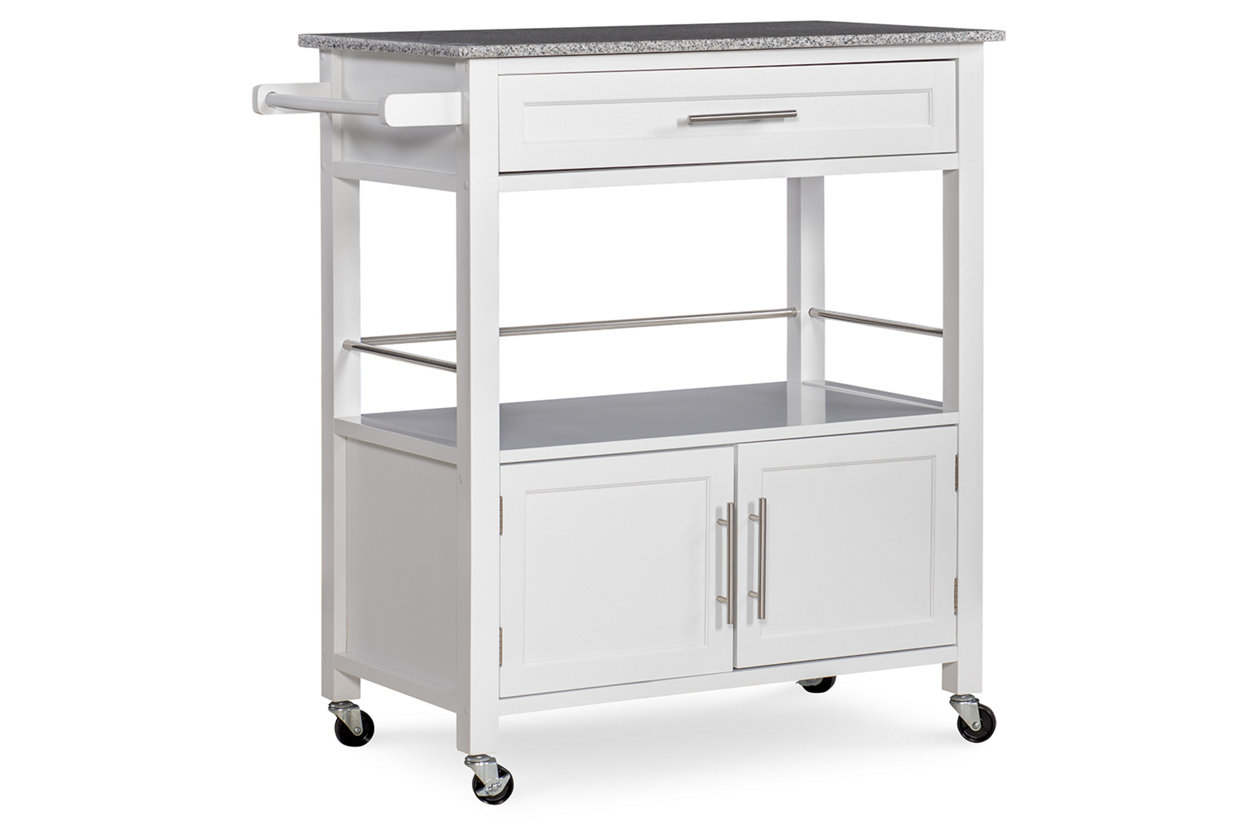 Rolling Cameron Kitchen Cart Ashley Furniture Homestore