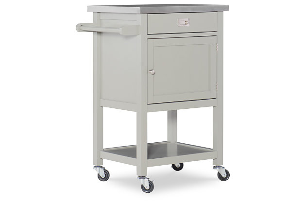 Rolling Sydney Compact Kitchen Cart, , large