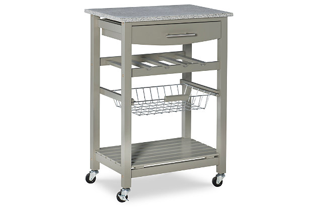 Rolling Roger Kitchen Island, , large