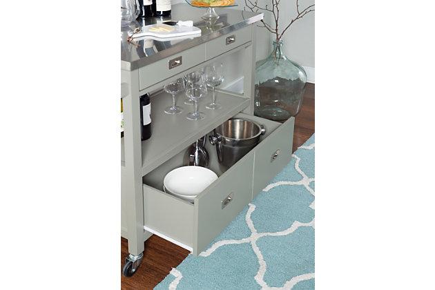 Rolling Sydney Kitchen Cart, , large