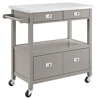 Rolling Sydney Kitchen Cart, , large