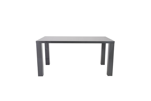 """Euro Style Abby 63"""" Rectangle Dining Table in Gray, Gray, large"""