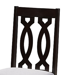 Cherese Gray Fabric Upholstered Espresso Brown Finished 5-Piece Wood Dining Set, Gray, large