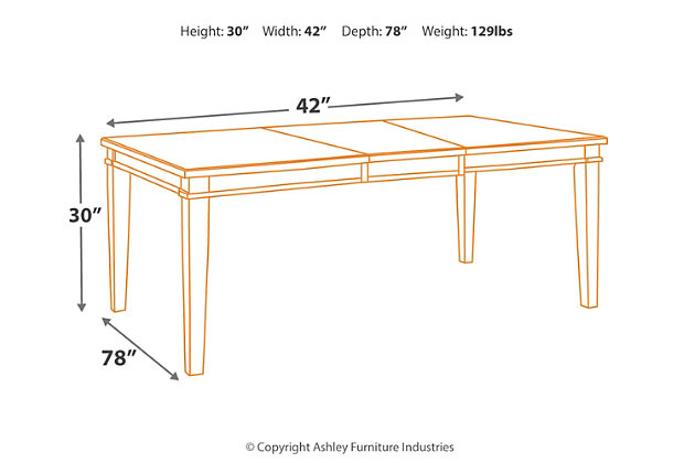 Danbeck Dining Room Table, , large