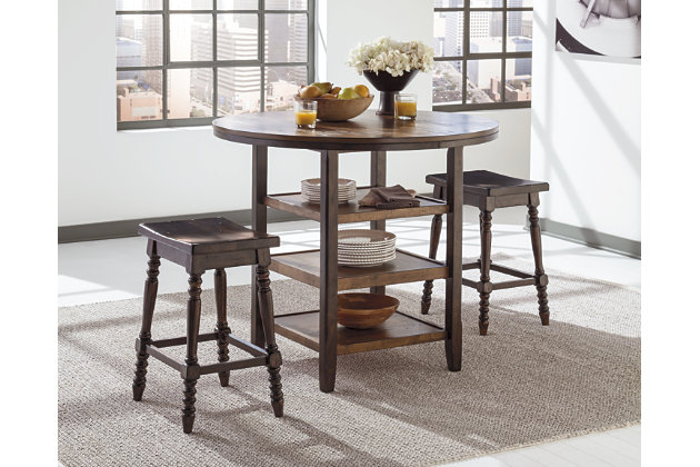 Dark Brown Moriann Counter Height Dining Room Table View 2 Part 77