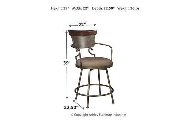 Moriann Counter Height Bar Stool, , large