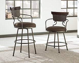 Moriann Pub Height Bar Stool, Two-tone, rollover