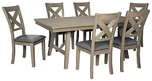 Aldwin Dining Table and 6 Chairs, , large