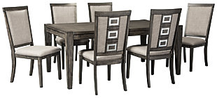 Chadoni Dining Table and 6 Chairs, , large