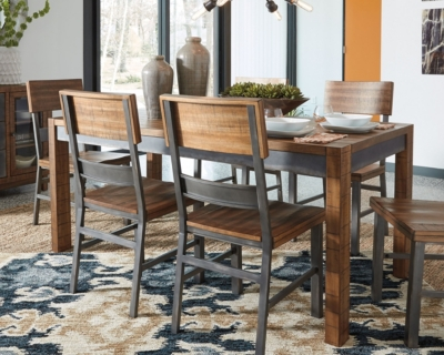 Ashley Harlynx Dining Room Table, Brown/Gray
