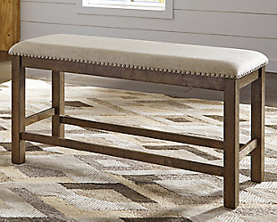 Moriville Counter Height Dining Room Bench, , rollover